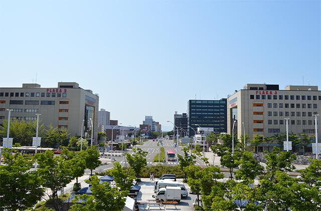 新潟駅南口からの弁天通り